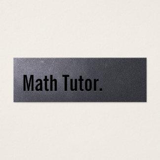 Cartão de visita do tutor da matemática do preto