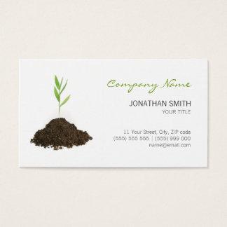 Cartão de visita do verde da planta nova