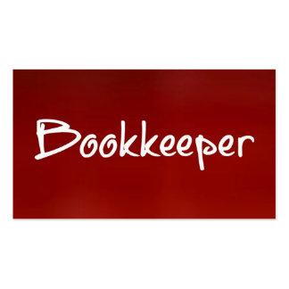 Cartão de visita do vermelho do guarda-livros