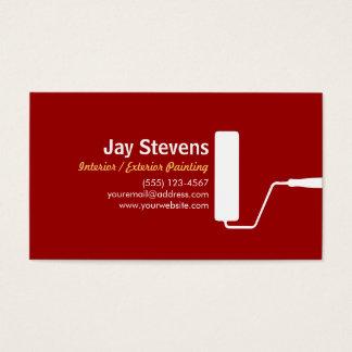 Cartão de visita do vermelho do pintor