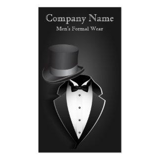 Cartão de visita do vestuário formal dos homens