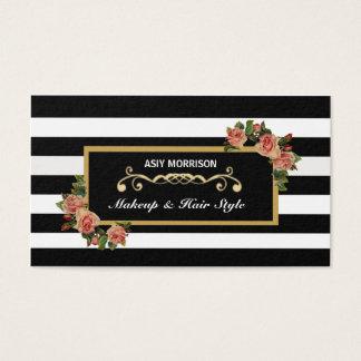 Cartão de visita do vintage do salão de beleza do