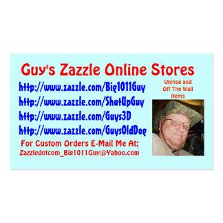 Cartão de visita do Zazzle da cara
