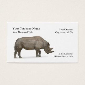 Cartão de visita do Zoologist do rinoceronte