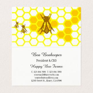 Cartão de visita dobrado costume do favo de mel da