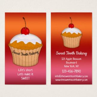 Cartão de visita doce colorido da padaria do