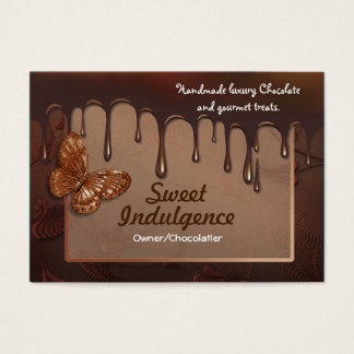 Cartão de visita doce da indulgência para