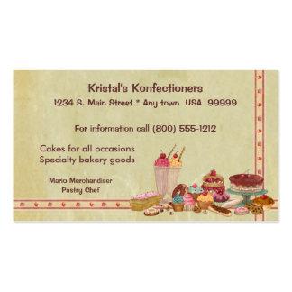 Cartão de visita doce da loja