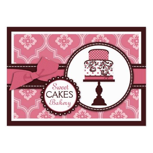 Cartão de visita doce do bolo