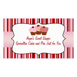 Cartão de visita doce do cupcake da loja