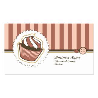 Cartão de visita doce retro da padaria do cupcake