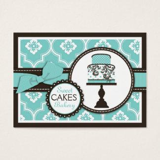 Cartão de visita doce Turq do bolo