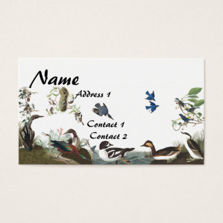 Cartão de visita dos animais selvagens dos