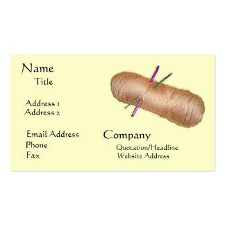 Cartão de visita dos artesanatos do fio
