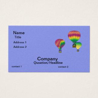 Cartão de visita dos balões de ar quente