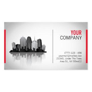 Cartão de visita dos bens imobiliários