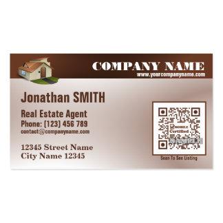 Cartão de visita dos bens imobiliários (código de