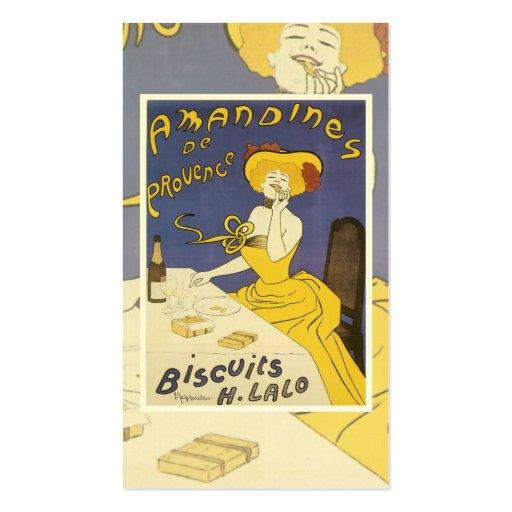 Cartão de visita dos biscoitos do vintage