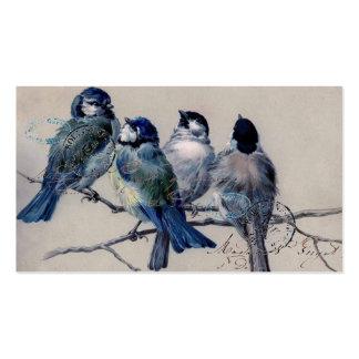 Cartão de visita dos Bluebirds de Paris do vintage
