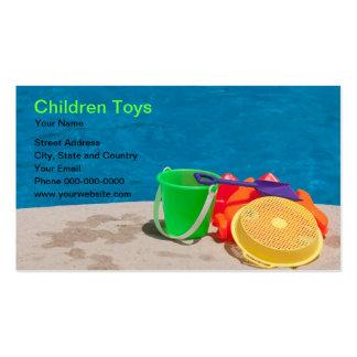 Cartão de visita dos brinquedos das crianças