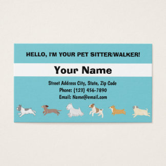 Cartão de visita dos cães Running
