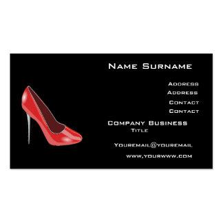 Cartão de visita dos calçados