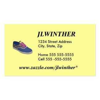 Cartão de visita dos calçados do Keds do KC