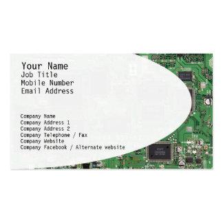 Cartão de visita dos circuitos eletrônicos