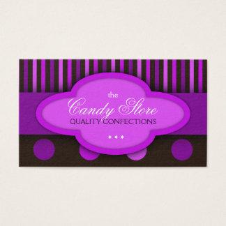 Cartão de visita dos confeitos dos chocolates da