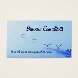 Cartão de visita dos consultores empresariais