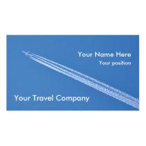 Cartão de visita dos contrails do avião