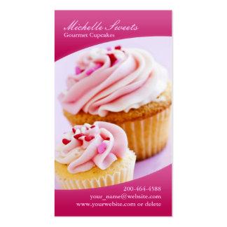 Cartão de visita dos cupcakes da padaria