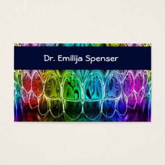 Cartão de visita dos dentes de Colorul do dentista