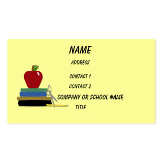 Cartão de visita dos dias escolares