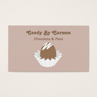 Cartão de visita dos doces - chocolate