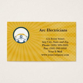 Cartão de visita dos eletricistas do arco