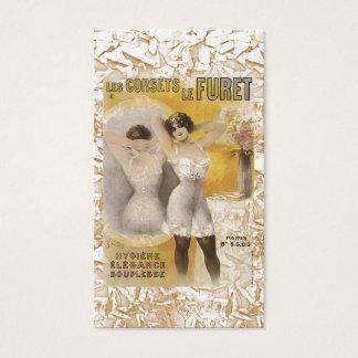 Cartão de visita dos espartilhos das mulheres do