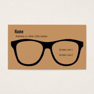 Cartão de visita dos Eyeglasses