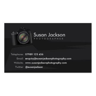 Cartão de visita dos fotógrafo da câmera