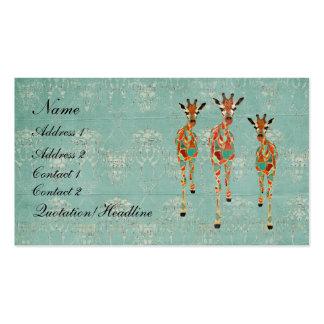 Cartão de visita dos girafas II/Tag Azure & ambari