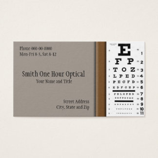 Cartão de visita dos optometristas