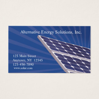 Cartão de visita dos painéis solares