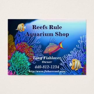 Cartão de visita dos peixes do aquário do recife