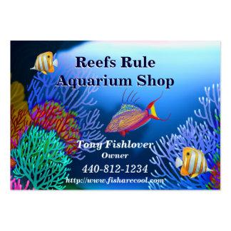 Cartão de visita dos peixes do aquário do recife d