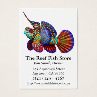 Cartão de visita dos peixes do góbio de Dragonet