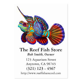 Cartão de visita dos peixes do góbio de Dragonet d