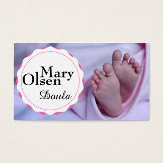Cartão de visita dos pés do bebê