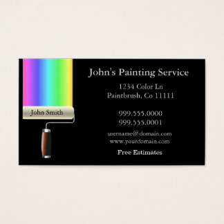 Cartão de visita dos pintores do rolamento