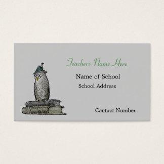 Cartão de visita dos professores da coruja do