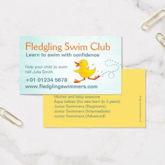 Cartão de visita dos professores da natação do